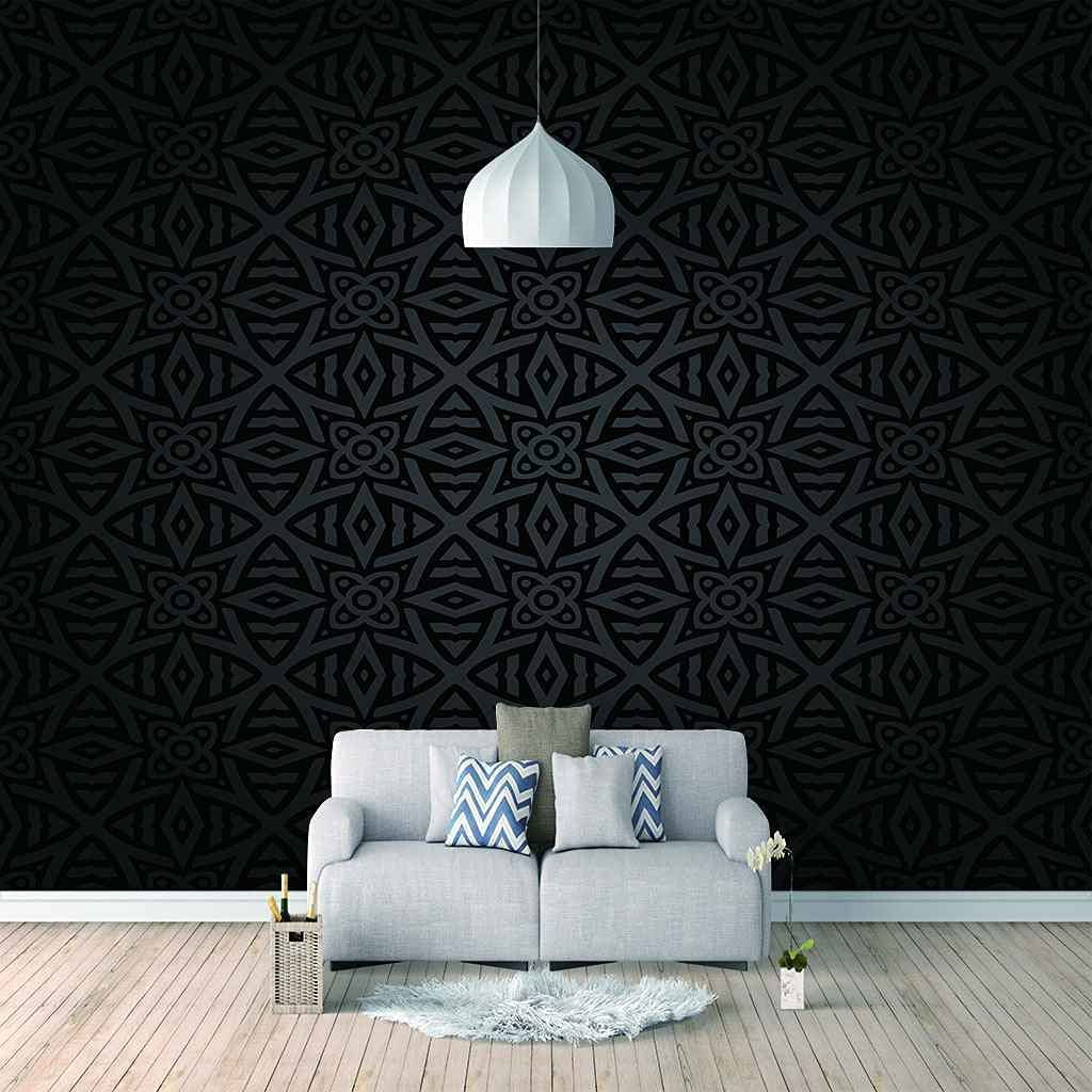 3D Max 45% OFF Mural Black Art Flower Discount is also underway Wall self-Adhesive Sticker Appl Canvas