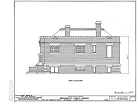 Historic Pictoric Blueprint Diagram HABS IND,49-IND,31- (Sheet 4 of 6) - Indianapolis Public Library, 2822 East Washington Street, Indianapolis, Marion County, in 14in x 11in