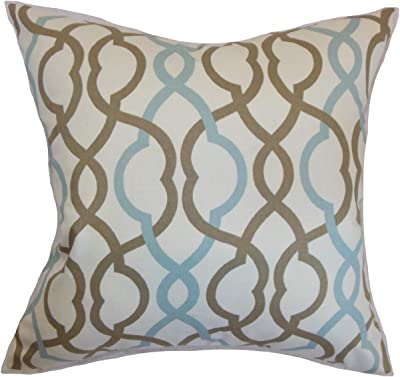 The Pillow Collection Poplar Geometric Pillow Kelp