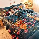 Juego de ropa de cama con funda de edredón-Otoño e invierno, franela gruesa, cama doble individual, cama individual, edredón de plumón, ropa de cama familiar extra grande de Navidad-METRO_Cama de 2,0