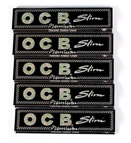 OCB Premium Slim Cigarette Papers 5 Booklets of 32