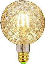 FidgetFidget Gloeilamp, E27, LED-gloeilamp, vintage gloeilamp, Edison gloeilamp, G95 decoratieve gloeilamp, ideaal voor hu...