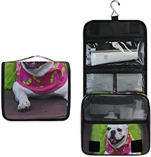 Watermelon Bash Large Capacity Hanging Toiletry Bag for Men & Women, Portable Waterproof Bathroom Shower Bag, Lightweight Dopp kit Shaving Bag, Sturdy Metal Hook Organizer Makeup Bag