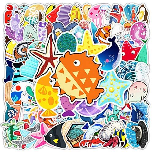 BAIMENG Don'T Repeat Cute Marine Series Bio-Graffiti Pegatinas Decorativas para Equipaje, Coche 100 Piezas