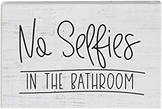 Simply Said, INC Small Talk Sign - No Selfies in The Bathroom
