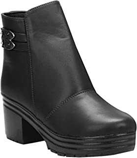 Quick Step Women's Synthetic Leather Ankle Boots Zipper