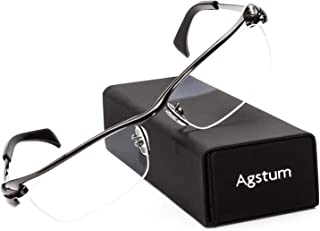 Agstum Pure Titanium Half Rim Optical Business Glasses...