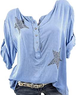 Women New Autumn Button Plus Size Blouse Ladies fashion Casual Outdoor Home Daily tops