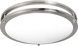 Luxrite LED Flush Mount Ceiling Light, 16 Inch, Dimmable, 4000K Cool White, 1960lm, 26W Ceiling Light Fixture, Energy Star & ETL - Perfect for Kitchen, Bathroom, Entryway, and Living Room