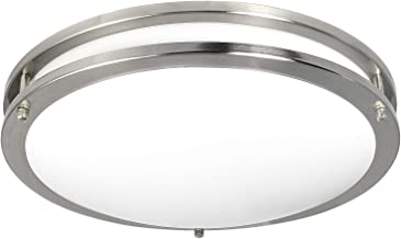 Luxrite LED Flush Mount Ceiling Light, 16 Inch, Dimmable, 5000K Bright White, 1960lm, 26W Ceiling Light Fixture, Energy Star & ETL - Perfect for Kitchen, Bathroom, Entryway, and Living Room