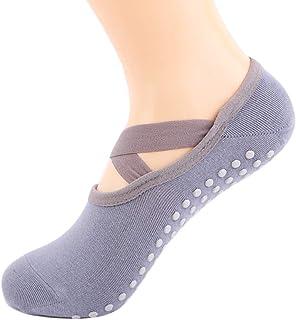 Auplew Calcetines de Yoga Varilla de Yoga Calcetines de Ballet Antideslizantes Gimnasio Fitness Ballet Dance Calcetines Deportivos