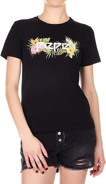 Pepe Jeans Women's PL504091999 Black Cotton TShirt