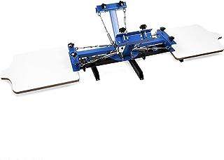 Autovictoria Screen Printing Machine 4 Estaciones de Color 2 Máquina de Serigrafía Sola Impresión Rotatoria de la Pantalla Para el Vidrio de Papel del Metal de la Camisa de DIY etc (2 estación del color 4)