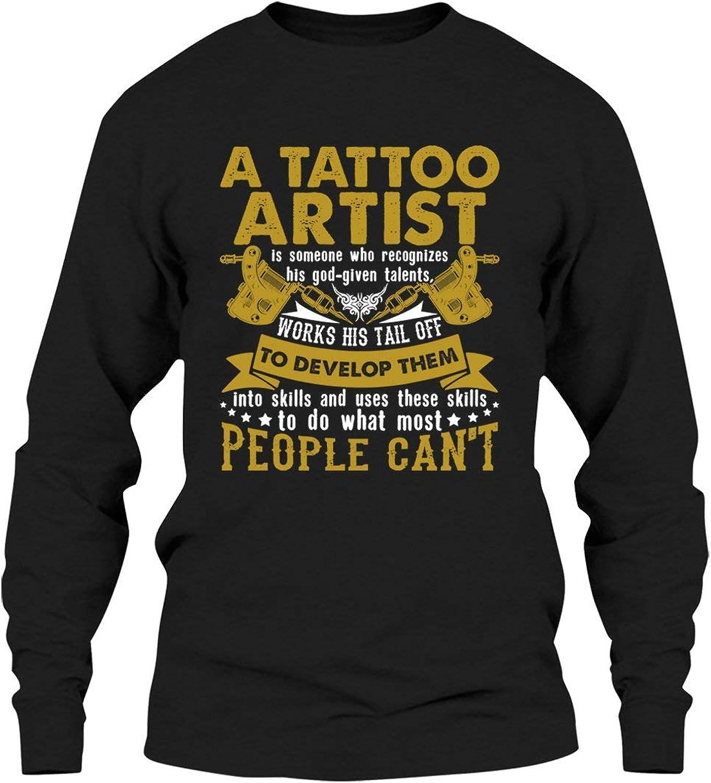 1443702bfd085 LightPink Tattoo Artist Job Long Sleeve T Shirts Shirts Shirts for ...