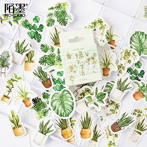 BLOUR 45 Stück/Packung Green Oxygen LifeDekorative Schreibwarenaufkleber Scrapbooking DIY Diary Album Stick Label