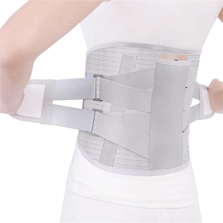 TFCK Lumbarmatete - CinturóN De Soporte Lumbar OrtopéDico con Placas Acero Y Terapia Calor para La Espalda Soporte Lumbosacro Contorneado Que Alivia El Dolor S Blanco
