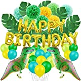 JOTOM Dinosaurier Geburtstag Dekoration Dinosaurier Party Geburtstag Deko Set Ballons Luftballons...