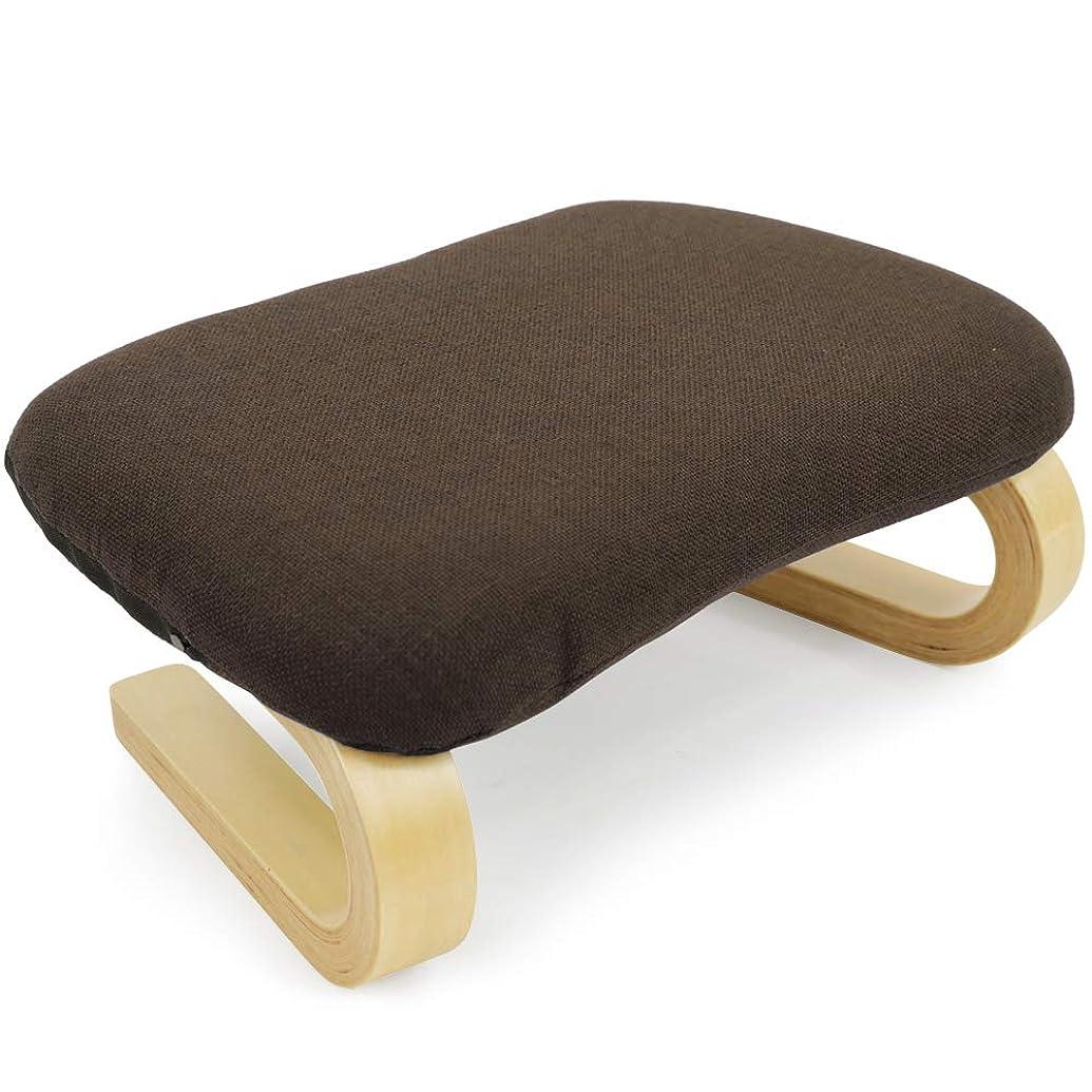 天井さびたに正座補助 腰痛 膝痛 対策 あぐら 正座椅子 法事 らくらく (曲木 coloreシリーズ, ブラウン色)