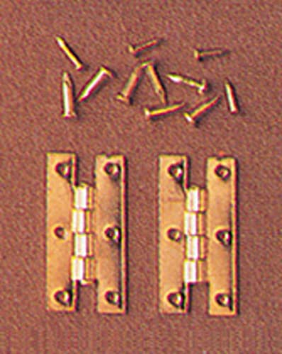 Dollhouse Miniature Set of 4 H Hinges with Nails