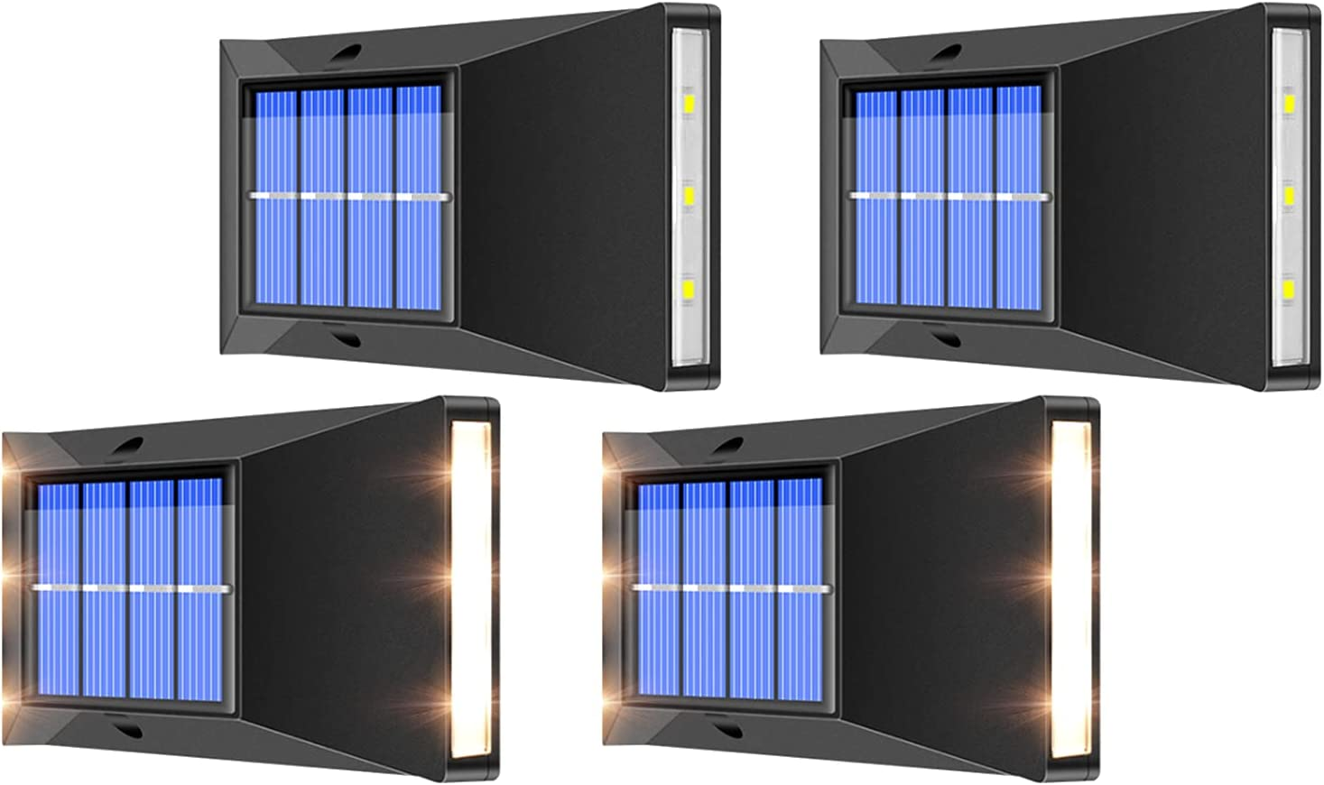 HSART sold out 4 Pack Solar Wall Directly managed store Outdoor Lighting Waterproof Light