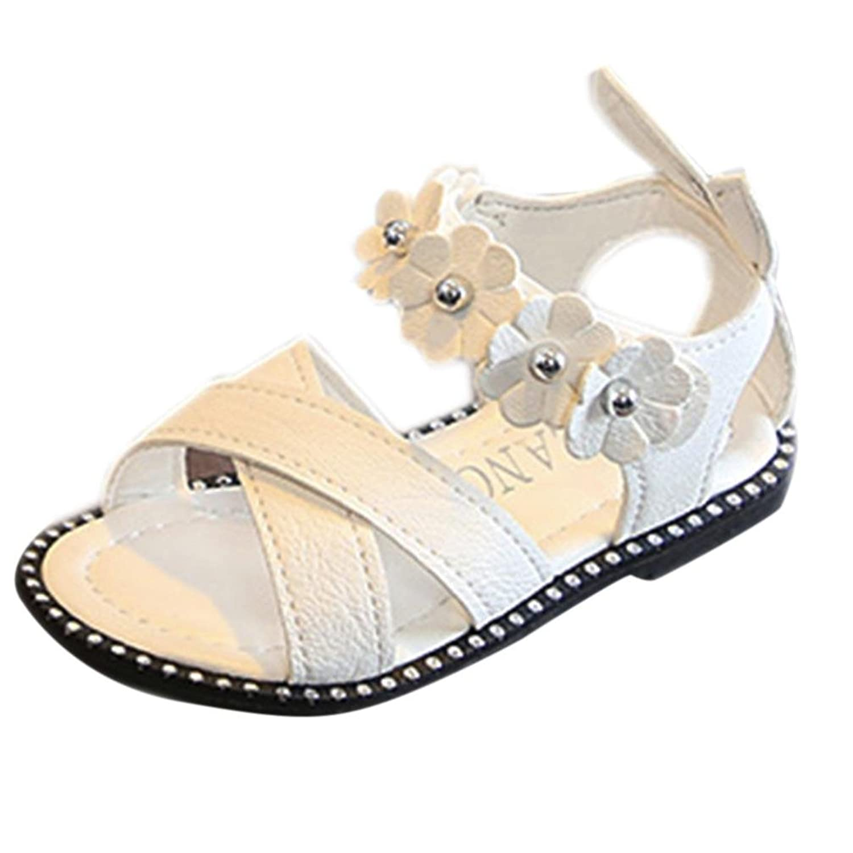 [Kukiwa] プリンセス靴 女の子 立体花の様式サンダル 滑り止めサンダル 柔らかい底 シューズ 子供靴 キッズューズ 履き脱ぎやすい 誕生日プレゼント