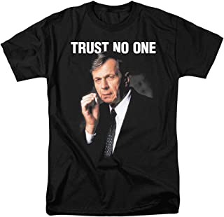 The X-Files Smoking Man Trust No One T Shirt & Stickers