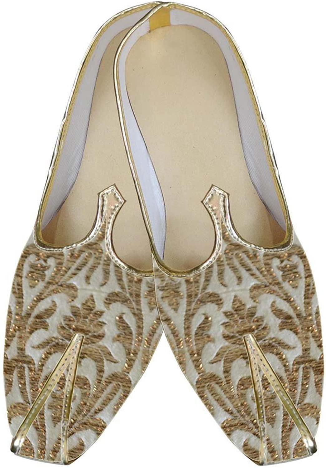 INMONARCH Mens golden Wedding shoes Traditional MJ0045