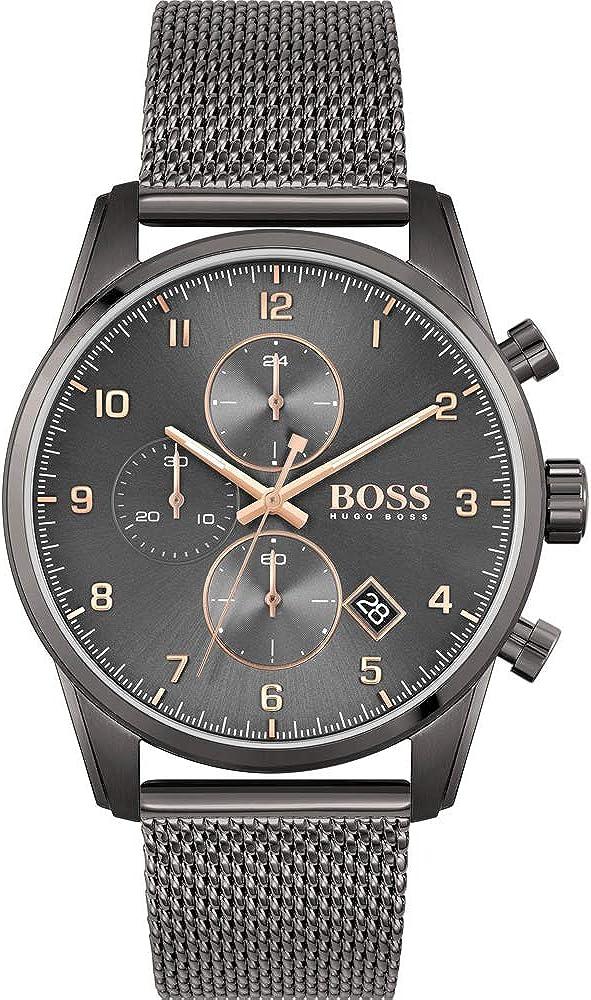 Hugo Boss Reloj Analógico para Hombre de Cuarzo con Correa en Acero Inoxidable 01513837