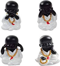 Baoblaze 4X Beautiful Little Kung Fu Monks Maitreya Buddha
