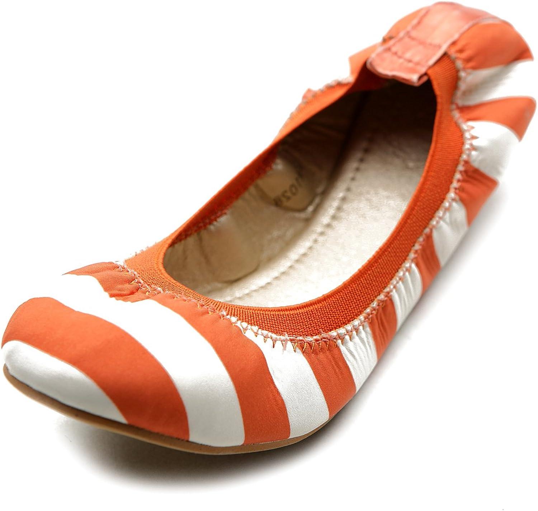 Ollio Women's Ballet shoes Comfort Cute Multi color Flat