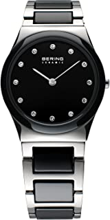 BERING Time 32230-742 Womens Ceramic Collection Watch with Stainless Steel Band and Scratch Resistant Sapphire Crystal. Designed in Denmark.