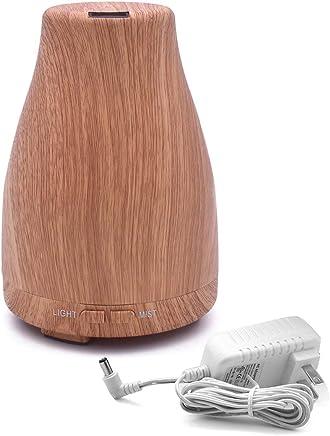 Saikogoods 加湿 空気清浄機 卓上加湿器 アロマセラピーエッセンシャルオイルディフューザ斜めの空気加湿器カラフルなLEDライトミストメーカーオフィスプラグ