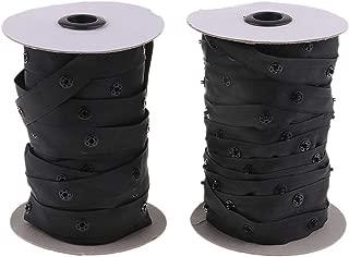 50 Yard Resin Snap Tape fit for Duvet Garment Cushion Covers Strap Fix (Black)