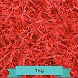 Creative Deco 1 kg Rojo Papel Triturado Kraft | Reemplazo de