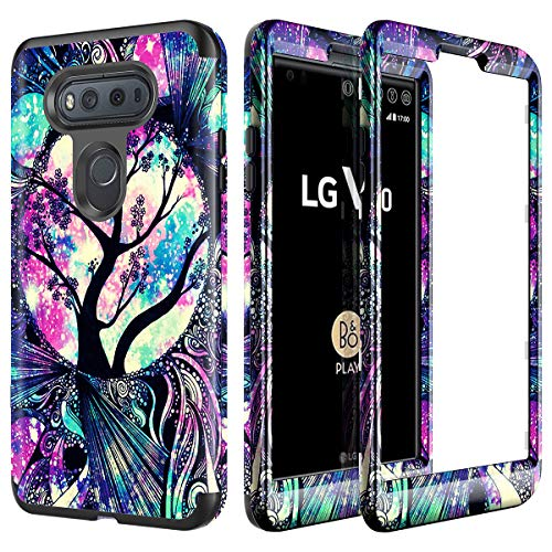 Lamcase for LG V20 Case Shockproof Anti-Scratch Dual Layer Hard PC & Flexible Silicone Rugged High Impact Durable Bumper Drop Protective Case Cover for LG V20 (2016), Life Tree