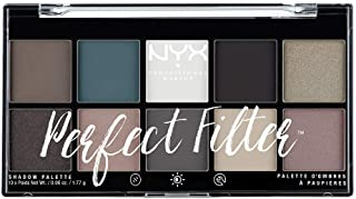 NYX Professional Makeup Paleta de sombras de ojos Perfect Filter Shadow Palette Tono  4  Gloomy Days Color Multicolor