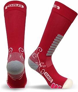 Eurosocks Women Snow Skiing Socks, Embraces The Foot, No Pinch Seamless Toe, Ventilation Knit, Warm - 8311W
