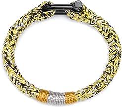 N/A Sieraden Geel grijs en zwart drie-kleur outdoor gevlochten armband mode trendy mannen armband Moederdag Kerstmis verja...