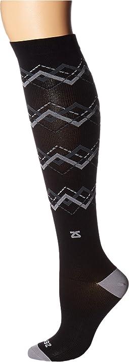 Fresh Legs Chevron Argyle Compression Socks