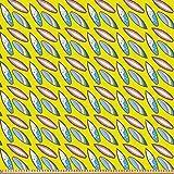 ABAKUHAUS Surfbrett Microfaser Stoff als Meterware, Sommer