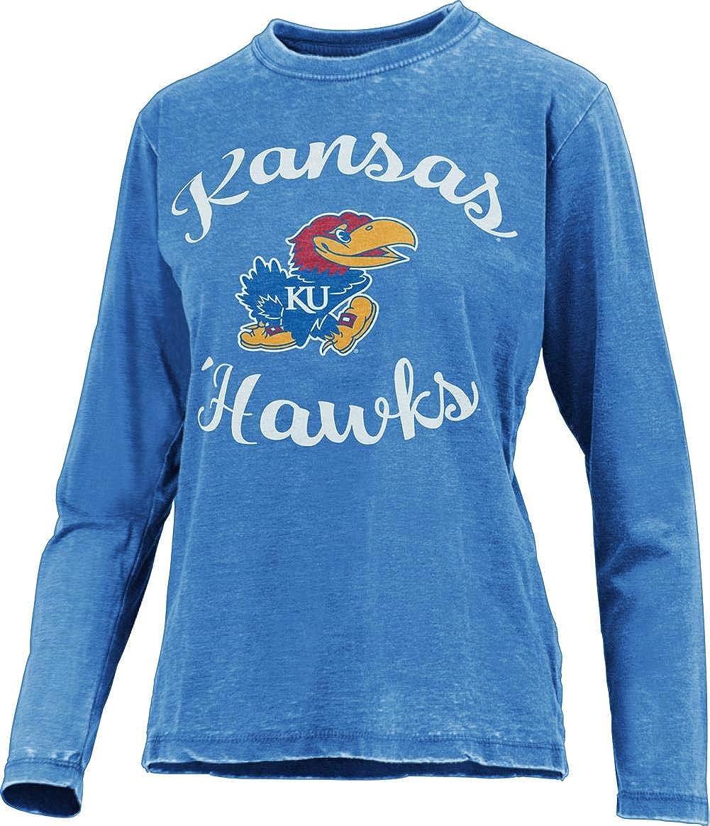 Albuquerque Mall Press Cheap mail order sales Box Women's Kansas Jayhawks KU Tee Long LS Sleeve Vintage