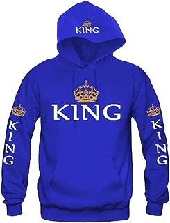 Women Couple Sweatshirt Matching King Queen Pullover Hoodies 1 Pcs