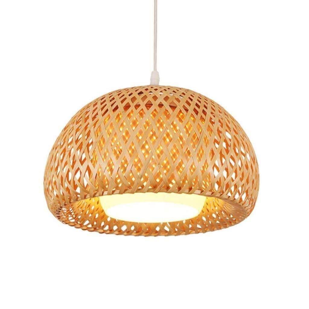 HAOXJ1 Luz de Techo de pulsador, de bambú de la Armadura de la lámpara del Pasillo del Restaurante Tea Room Luces Decorativas (Size : 38 * 20cm): Amazon.es: Hogar