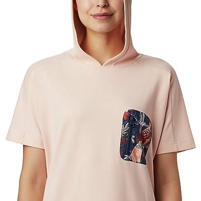Columbia Parktm Short Sleeve Hoodie (Peach Cloud/Nocturnal) Women