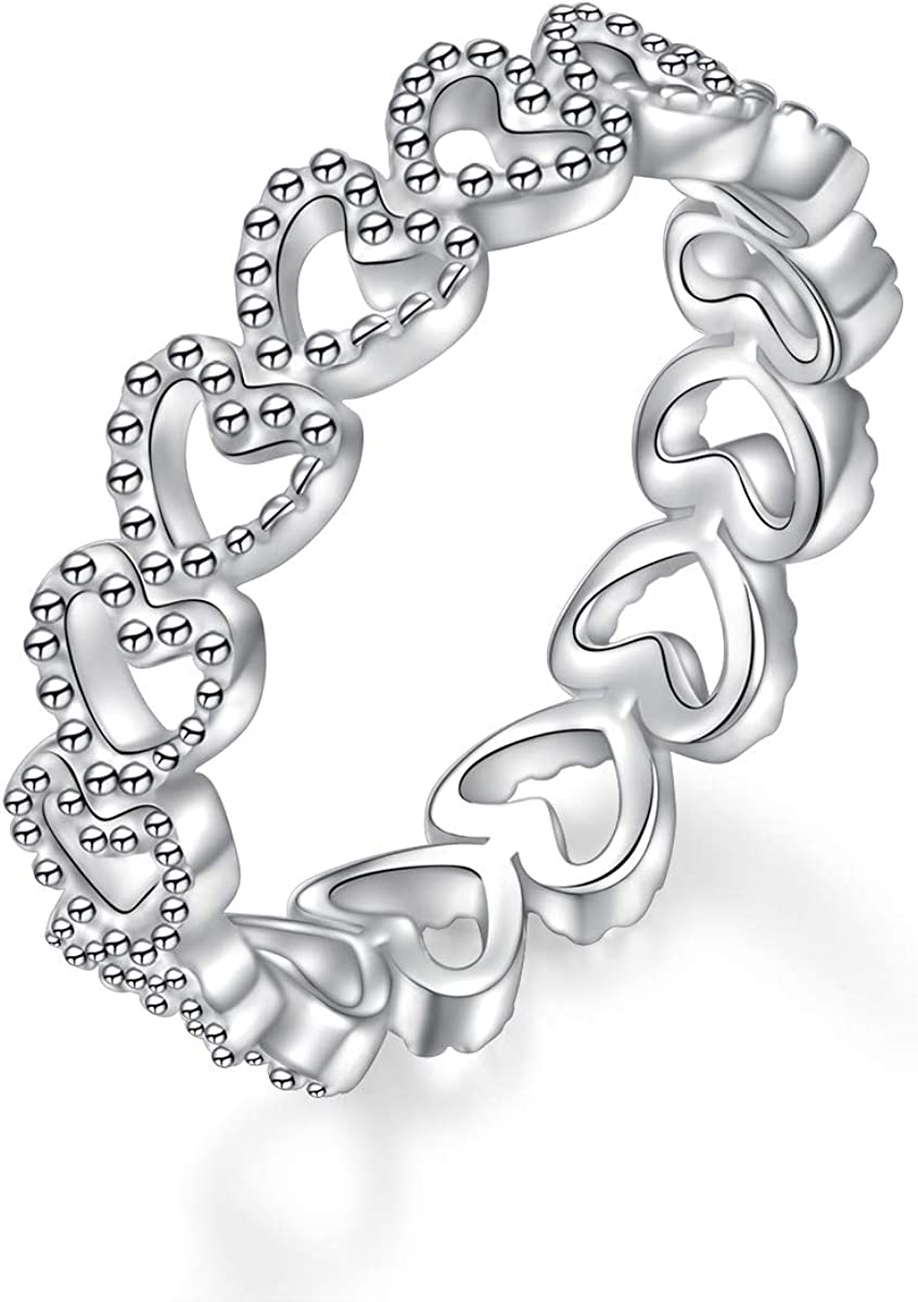 Sterling Silver Heart Infinity Sale item Shaped Classical Max 90% OFF Plain Sta Simple