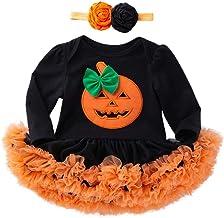 K-youth Vestidos Bebe Niña Bautizo, Ropa Bebe Recien Nacido Niña Bebé Mono Halloween 2018 Ofertas Otoño Invierno Vestido Bebe Ceremonia Tutu Princesa Vestido de niñas(Negro-2,6-12 Meses)