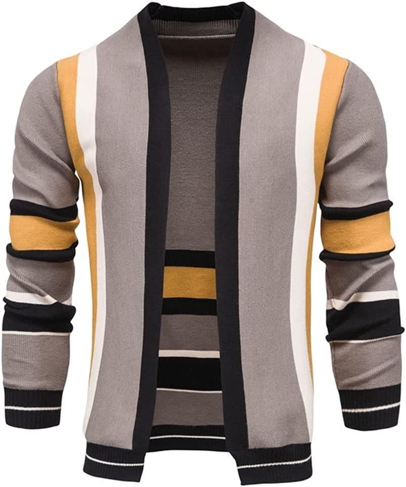 GPPZM Cardigan Men Casual Knitted Slim Sweaters Men Warm Autumn Winter Men's Sweaters (Color : A, Size : 4XL)