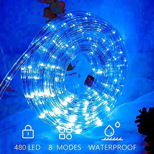 Hengda LED Lichterschlauch 20m 480er LED Blau Lichtschläuche Lichter mit 8 Modi Innen und Außenbereich Lauflichter für Saal, Garten, Weihnachten, Hochzeit, Party