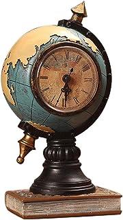 Jinclonder Vintage Globe decoración de Reloj decoración de Resina para Sala de Estar en el hogarMueble de TV Vestíbul...