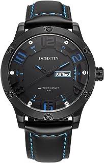 ساعة رجالي كوارتز أصلية فاخرة من OCHSTIN 2017 ساعة يد كبيرة مضادة للماء 30 متر ساعة عادية للرجال + صندوق